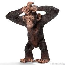 Chimpancé Schleich, Replica Original Pintado A Mano