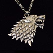 Game Of Thrones Collar Pendiente Lobo Stark Direwolf