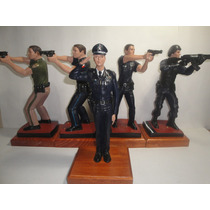 Policia Federal Figuras Hechos De Resina Diversas Divisiones