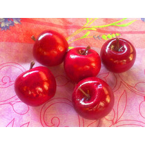 Lote De Manzanas Miniatura Para Adorno O Manualidad