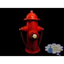 Hidrante Bomba De Agua Usa Alcancia Vintage Roja Metal