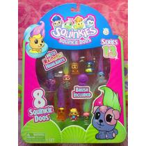 Set De Serie 13 Figuras Squinkies Miniatura Con Pelo
