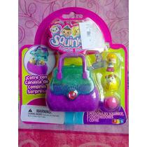 Set De Canasta De Compras Con Figuras Squinkies Miniatura