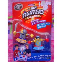 Set De Figuras De Luchadores Cyborg Y Tnt De Top Fighters