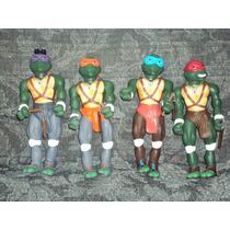 Lote De 4 Figuras Grandes De Tortugas Ninja Miguel Donatelo