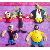 Popeye Set De Figuras Flexibles