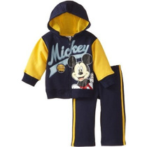2 Pieza Manga Mickey Chaqueta Y Pantalón Disney Niños Bebés