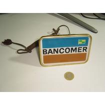 Vintage Anuncio Luminoso Pequeño De Escritorio Bancomer