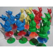 Gcg Lote De 12 Canguros Saltarines Plastico Colores Retro