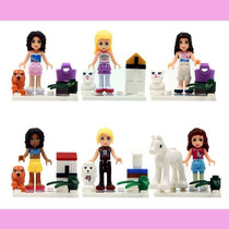 Set De 6 Figuras Girls Friends Ladrillo Tipo Lego Para Armar