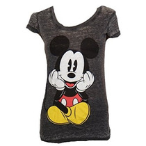 Disney Classic Mickey Mouse Sentado Juniors Camiseta