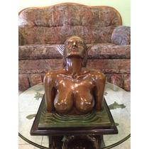 Sirena Hecha De Bronce, P/mesa De Centro, Arte Antiguo Op4