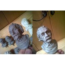 Albert Einstein, Escultura De Resina, 16 Cm De Alto.