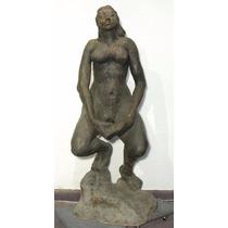 Michael Zuckerman Gran Figura Bronce Desnudo Femenino Italia