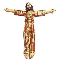 Cristo Bizantino Con Hoja De Oro Para Colgar En Pared