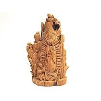 Vírgen De Guadalupe Con San Diego Y Pájaro, Miniatura/madera