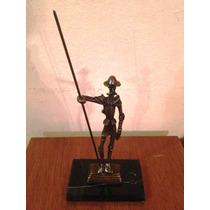 Don Quijote De La Mancha, Único!!! Hecho De Bronce Op4