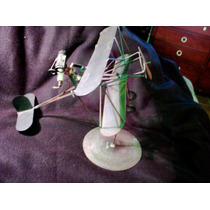 Figura Decorativa De Aeroplano En Metal 2