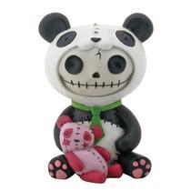 Magnifica Figura Furrybones De Calavera Oso Panda