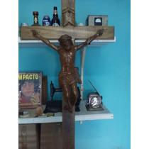 Cristo De Madera Tallado A Mano