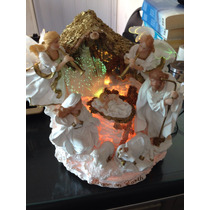 Nacimiento Iluminado De Colores Fibra Óptica Navidad