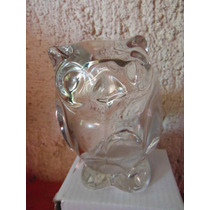 Elegante Y Preciosa Figura Buho De Cristal Souvenir Rabbit