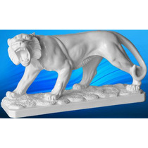 Escultura De Tigre De Bengala De Marmol Figura Arte