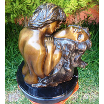 Hombre Y Mujer, Amor Y Pasión, Hecha De Bronce Op4