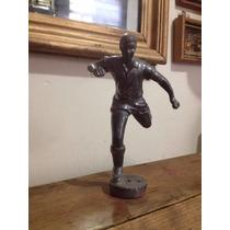 Figura Escultura Futbolista Hierro Fundido Antigua 50, 60s