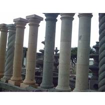 Columnas De Cantera Natural De 2.45 Mts Altura Y 30 Cm Diam