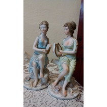 Griegas Figuras De Porcelana Fina.antigua