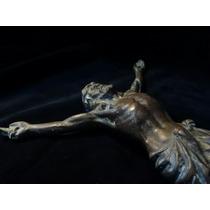 Antiguo Crucifijo De Bronce