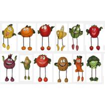 Divertido Juego De Coleccion 12 Frutas Y Verduras De Cocina