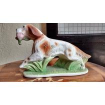 Perro Cazador Figura De Porcelana Antigua De Filipinas.