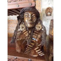 Escultura Busto De La Generala Revolucionara. Estilo Antiguo