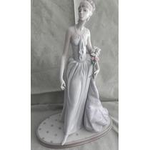 Escultura Porcelana Española Lladro Dama Elegante Excelente