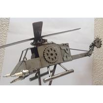 Helicóptero Grande De Metal / Fierro