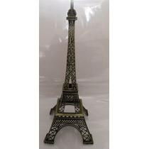 Torre Eiffel Metal 32 Cm Grabado Paris Caja Regalo