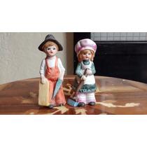 Niños Trabajadores Figuras De Porcelana Antigua