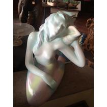 Preciosa Sirena De Papel Mache Por El Artists Alexander F.