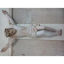 Cristo Tallado En Madera De Cedro, 28cm