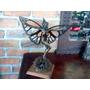 Hermosa Escultura De Mujer Mariposa De Bronce, Pieza Unica.