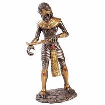 Escultura De Momia Egipcia En Acabado Bronce