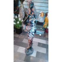 Figura Dama Africana Polvo De Alabastro