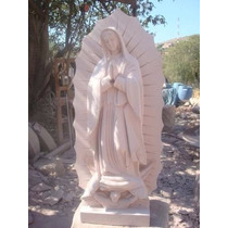 Virgen De Cantera Natural De 60 Cm Sencilla Color Rosa