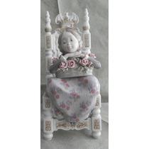 Escultura Porcelana Lladro Niña Sentada Excelente