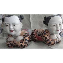 Esculturas Porcelana China Niños Antiguos Años 50¨s