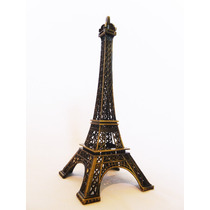61 Cm Torre Eiffel Francia Metal Escala Oro Viejo Paris