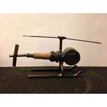 Helicoptero Hecho Bujías Steampunk Figura Metal