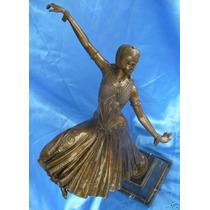 Bailarina Art Deco En Bronce